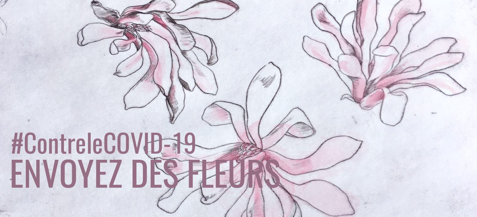 des fleurs contre le covid19