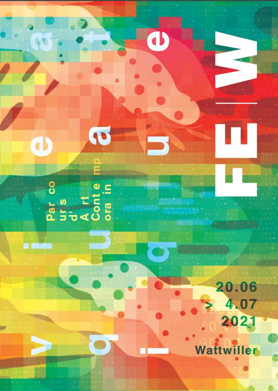 affiche colorée expo FEW